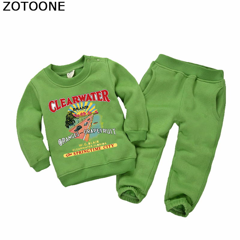 ZOTOONE Clear Water Patches for Diy Washable Iron on Patch for T shirt Sweatshirt Applications Heat Transfer Funny Gift for Kids in Patches from Home Garden