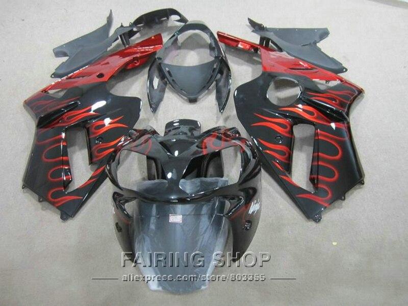 CBR 600 F4i 04 2004 05 2005 Fairings for Honda ( Red flame) Injection Fairing kit cbr600F4i 2006 06 2007 07 l28