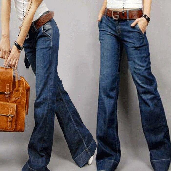 Free shipping 2013 spring new Slim wide leg jeans Women loose big ...