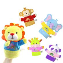 Baby toy Animal hand puppet Talking Props Tell Story cotton Hand Toys monkey elephant Classic Children Favor Soft Plush Dolls