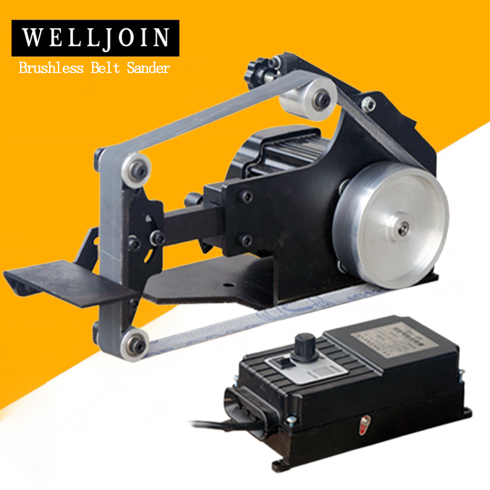 762*25mm Brushless Belt Sander 800W Fixed Angle Sharpening Machine Got 6 Free Abrasive Belt Small DIY Polishing Machine SD-762WS