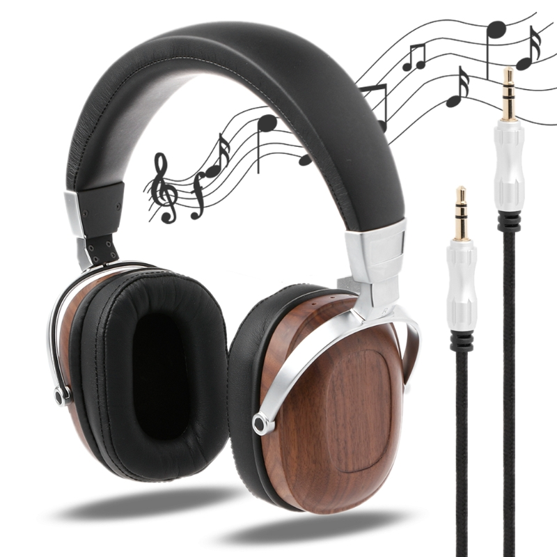 OOTDTY Headphone Moving Coil Headset B8 Stereo Wooden Metal Over-ear Black Mahogany Earphone free shipping stock high quality original ie60 headphone moving coil unirt micdriver dynamic earphone no package