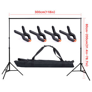 Image 2 - 2 * 3m / 6.5 * 10FT Adjustable Aluminum Photo Backrest Support Stand With Screen Chromakey Green Muslin Backdrop Background Kit