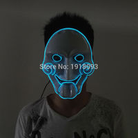 DC 3V Driver+Halloween 10Color Optional glowing EL wire Chainsaw mask LED neon mask Novelty Lighting for party decoration