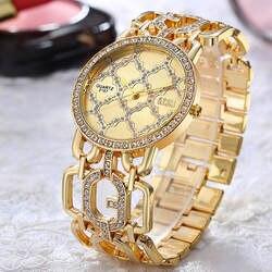 Кварцевые часы Аналоговые наручные часы женские сплав аналоговые кварцевые c циферблатом горный хрусталь браслет наручные часы Relogio Feminino