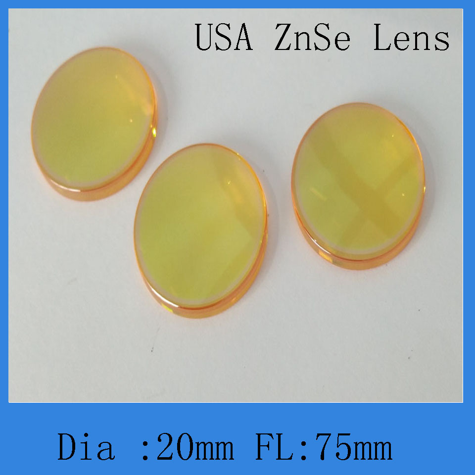 Co2 Laser Lens 20 Mm Diameter 75 Mm Focus Lens  For Co2 Laser Cutting And Engraving Machine