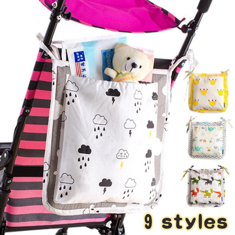 Baby diaper bag Cot Bed Hanging Storage Bag Toy nappy Pocket Organizer for Crib Bedding Set infant stroller Accessories D3