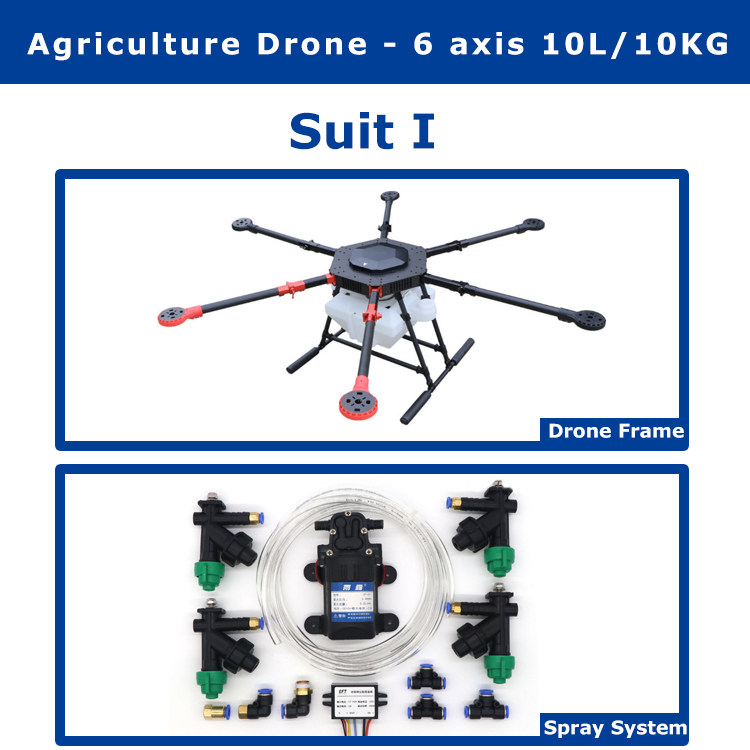 6 axis 10KG Pesticide spraying system gimbal for DIY Agricultural multi rotor UAV drones pesticides