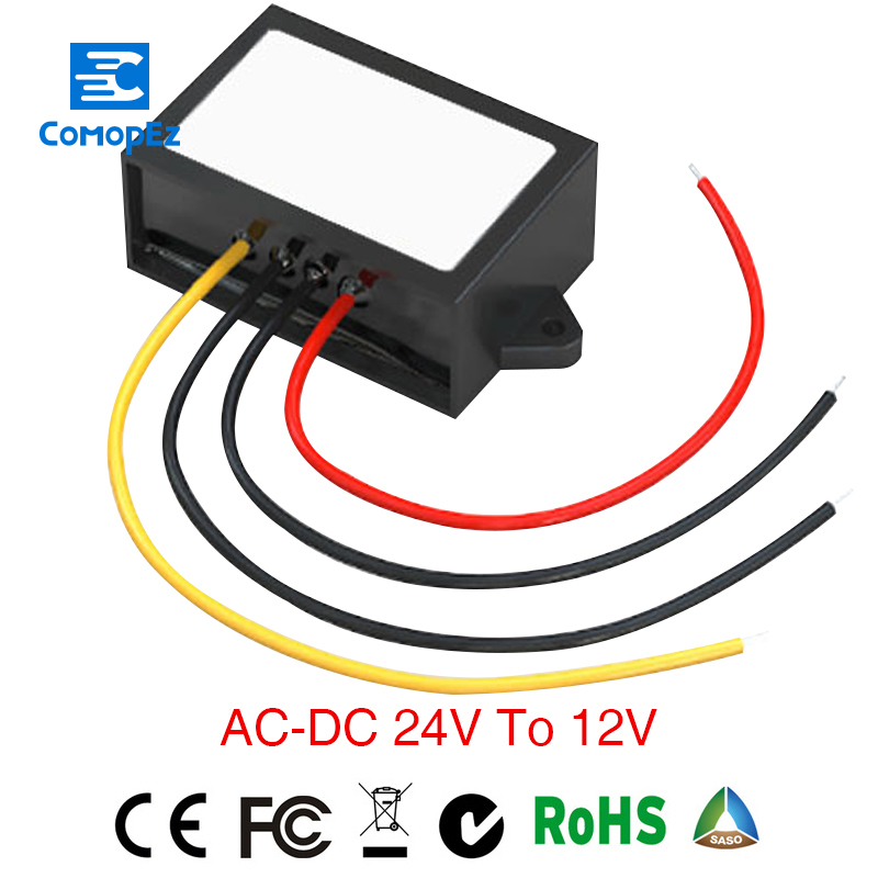 Grid Tie Inverter Power Supply Converter Ac/dc Step-down 24v To 12v 3a Waterproof Control Grid Tie Invertor Size 58*40*22mm