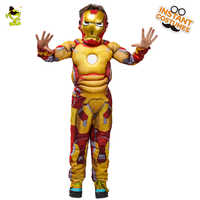 Kids Avengers Iron Man Muscle Costume Child Halloween Costume Boys Marvel Movie Superhero Cosplay Clothing