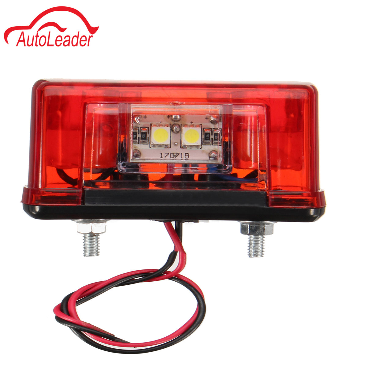 1Pcs License Plate LED Light White Red 12V / 24V Truck Car 4LED Side Light Rear Tail Lamp cawanerl car canbus led package kit 2835 smd white interior dome map cargo license plate light for audi tt tts 8j 2007 2012
