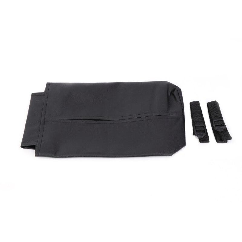 Car Sun Visor PU Leather Tissue Storage Box Pumping Paper Napkin Clip Holder