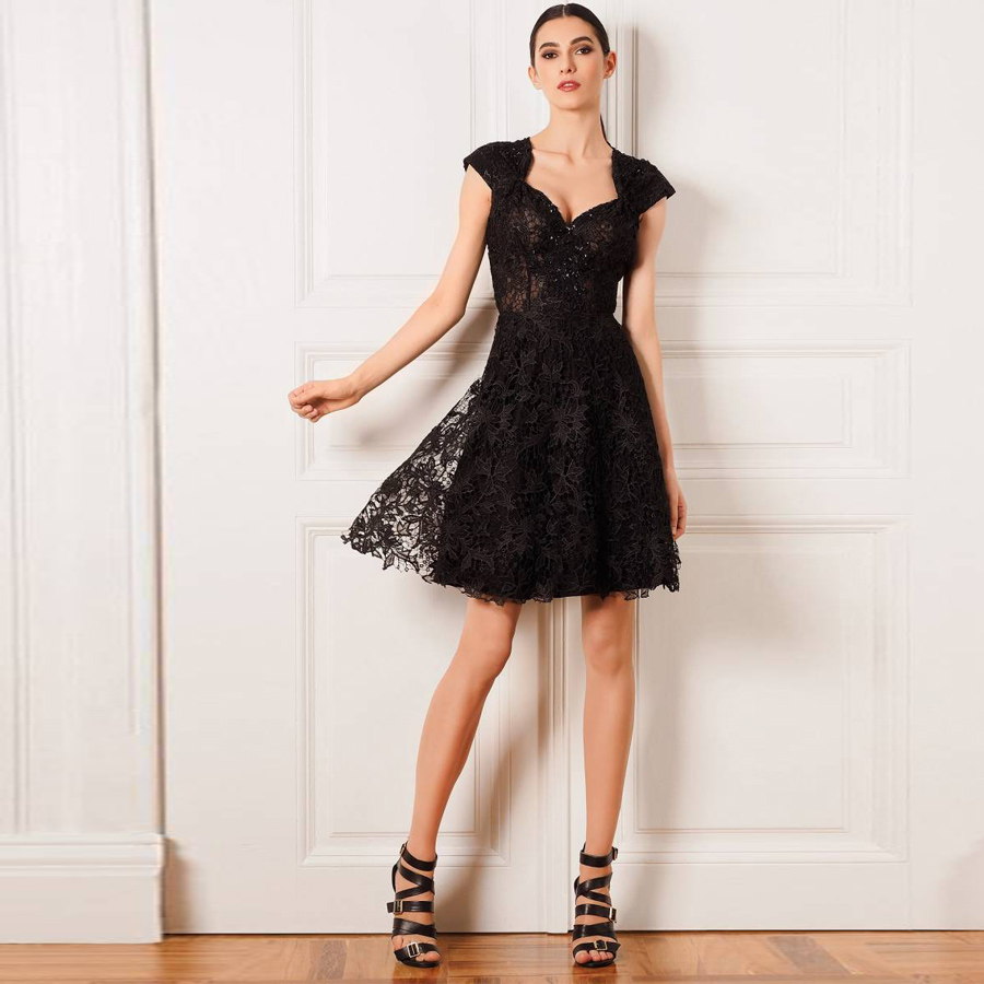 Popular Designer Black Cocktail Dress-Buy Cheap Designer Black ...