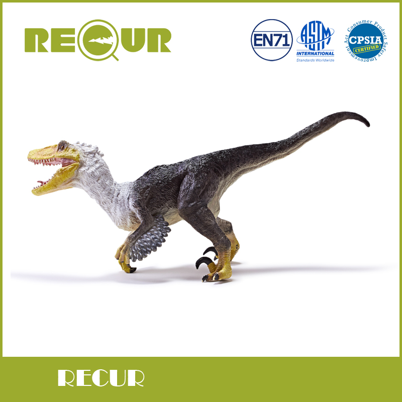 Recur Toys Original Design Jurassic Velocisaurus Dinosaur toy High Simulation PVC Model Soft Toys Xmas Gift Collection recur toys high quality horse model high simulation pvc toy hand painted animal action figures soft animal toy gift for kids