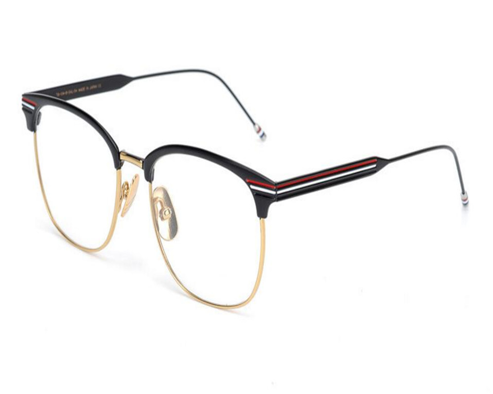 Apparel Accessories Men's Glasses Unisex Fashion Brand Design Alloy Full Rim Retro Optical Eyewear Frame Gold Silver Myopia Clear Lens Goggle Eyeglasses Frame Beneficial To The Sperm