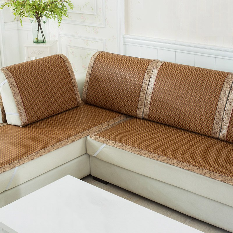 High Quality Sofa Cover Plaid Slipcover Summer Cooling Couch Rattan Chair Seat Dustproof Slipcovers In From Home Garden