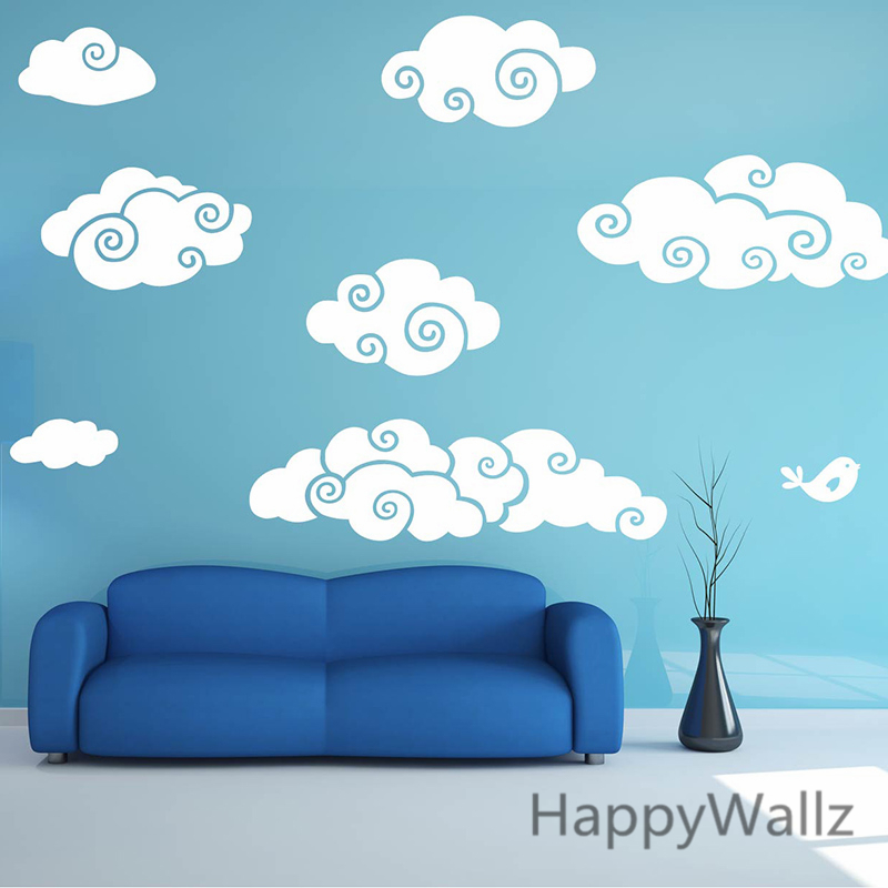 Clouds Wall Sticker Cartoon Clouds Baby Nursery Wall Decal DIY Vinyl Wall  Stickers For Kids Room Removable Wall Decoration N18 In Wall Stickers From  Home ...