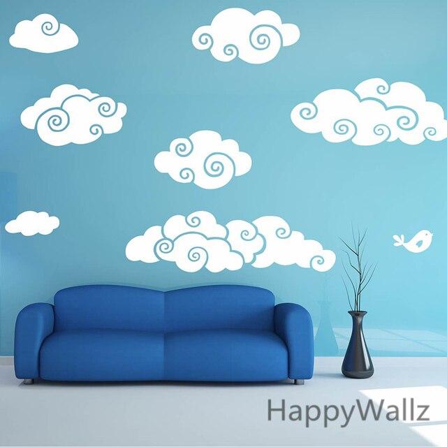 Clouds Wall Sticker Cartoon Clouds Baby Nursery Wall Decal DIY - Nursery wall decals clouds