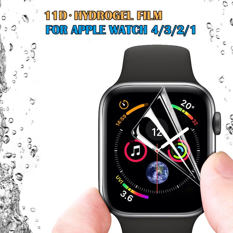 Hydrogel Film For Apple Watch Series 4 40mm 44mm Soft Full Coverage Screen Protective Film For Iphone Watch 3 38mm 42mm(China)