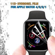 Гидрогелевая пленка для Apple Watch Series 4 40 мм 44 мм мягкая полноразмерная Защитная пленка для Iphone Watch 3 38 мм 42 мм