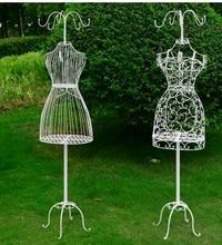 wrought iron model frame female wearing wedding shooting props bust all your clothes hanger window display rack