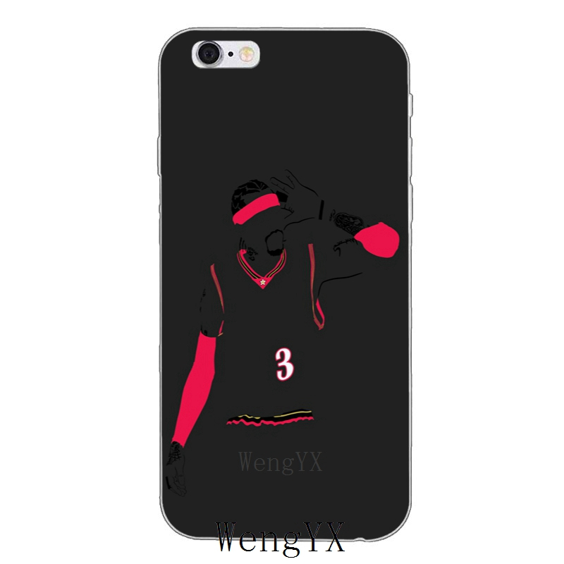 basketball star Allen Iverson 3 silicone Soft phone case For HTC One A9 M10 M7 M8 M9 E9 plus Desire 530 626 628 630 816 820 U11