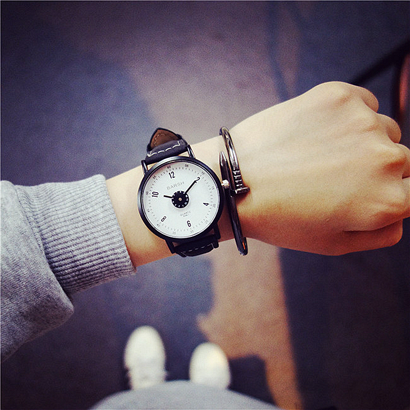 2017 New Arrival Fashion Black Quartz Watch Women High Quality Wrist Watches Men Gift Hour Relogio Masculino Male Female Clock