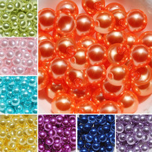 New Arrival 4mm/6mm/8mm Acrylic Imitate Pearl Spacer Beads Fit for Jewelry Making Room Decoration DIY 11 Colors(China)