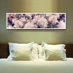Image 2 - Набор для вышивания крестом, рукоделие, Большой Набор для вышивания, белый, фиолетовый, принт розовый цветок пиона, Декор стен на свадьбу