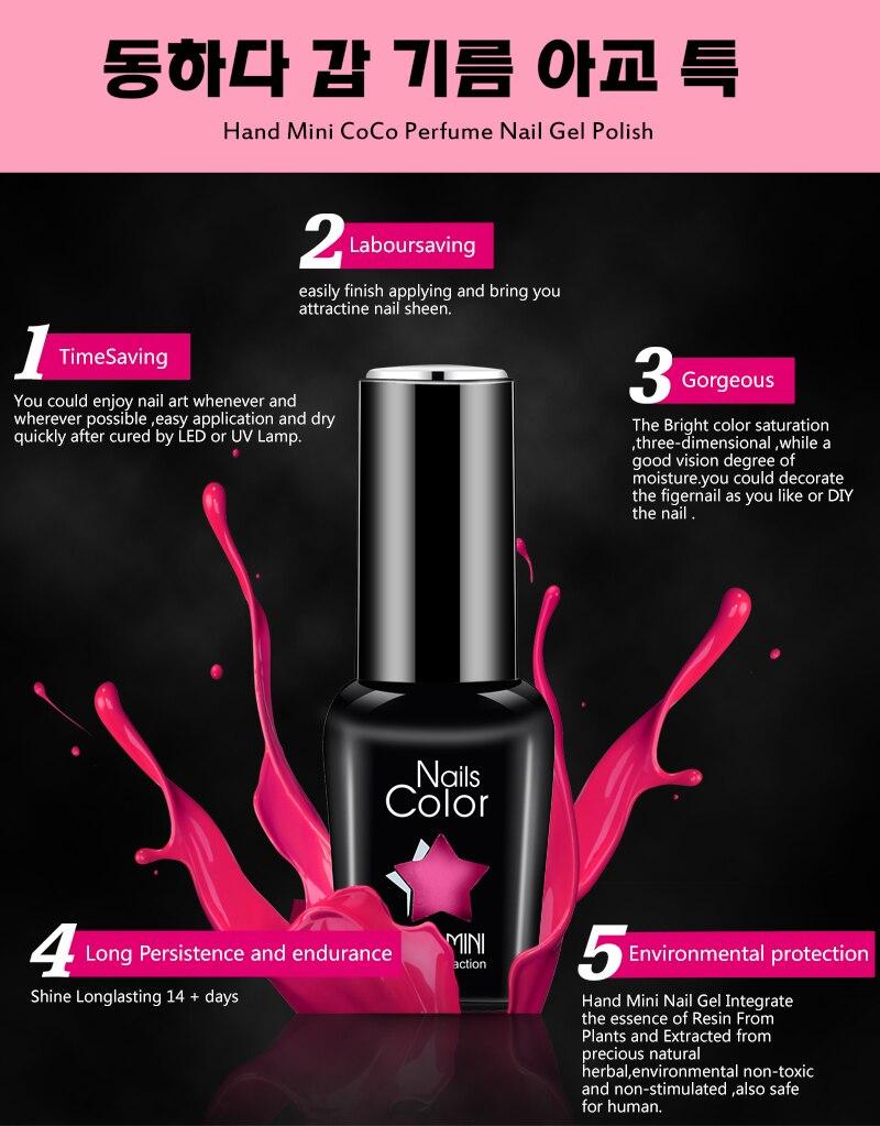 HANDMINI High Quality Long lasting manicure Soak off LED Gel Nail ...