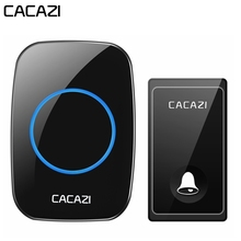 CACAZI No Battery Required Wireless Doorbell Self-powered Waterproof Intelligent Home Door ring Bell US EU UK Plug 58 Chimes cacazi wireless door bell waterproof battery 2 transmitter 3 receiver us eu uk au plug home bell wireless chime ring bell