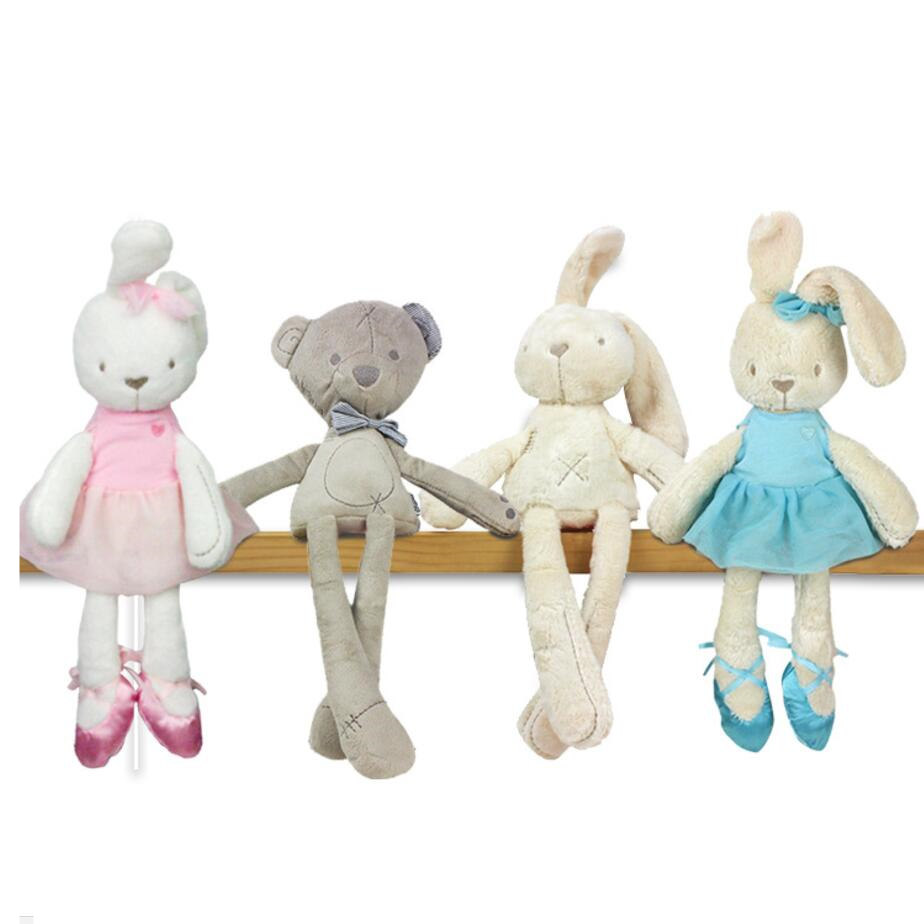 baby Lovely Bunny Rabbit bear Stuffed & Plush toys  Kids Sleep stuffed Plush dolls cute Cartoon Education toys for children Gift 28cm kawaii animal plush dolls kids stuffed toys for children soft comfort baby toys cows rabbit fox teddy bear