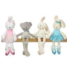 baby Lovely Bunny Rabbit bear Stuffed Plush toys Kids Sleep stuffed Plush dolls cute Cartoon Education