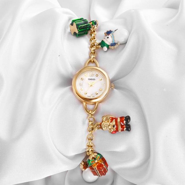 TIME100 Orologi Del Braccialetto Delle Donne Di Natale pupazzi di neve di stile Quarzo Waches regalo Colorato Donna Orologio Da Polso orologio Relogio feminino