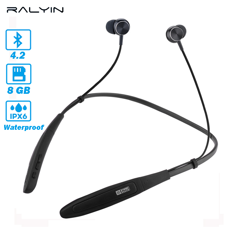 2018 New Ralyin Mp3 Player Bluetooth Sport MP3 Player High Resolution Lossless Music MP3 Player 8GB memory waterproof MP3 player цена и фото