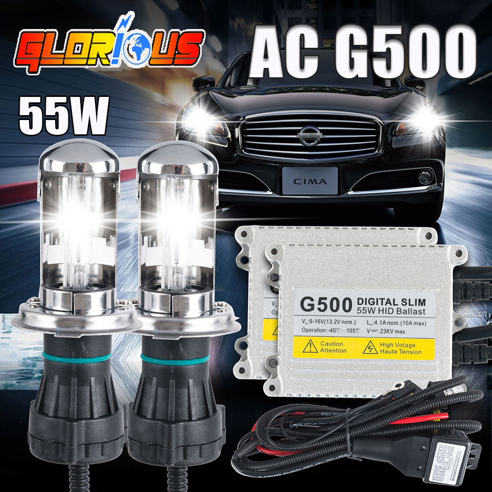 ФОТО 55w slim ballast G500 h13 hi lo bixenon bulb h13 6000k 55W hid h13 bi xenon kit