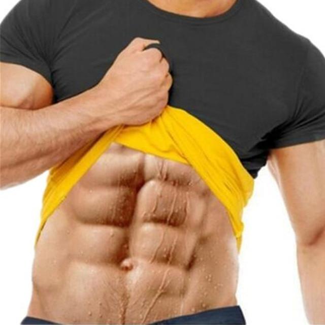 32307ee92000c Men s Thermal Body Shaper Slimming Shirt Hot Shapers Compression Slim Shirt  Neoprene Waist Trainer Body Shaper Slim Vest T-Shirt