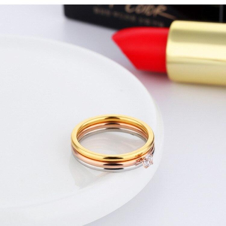 Купить модные кольца для женщин с фианитом 4 мм простые креативные