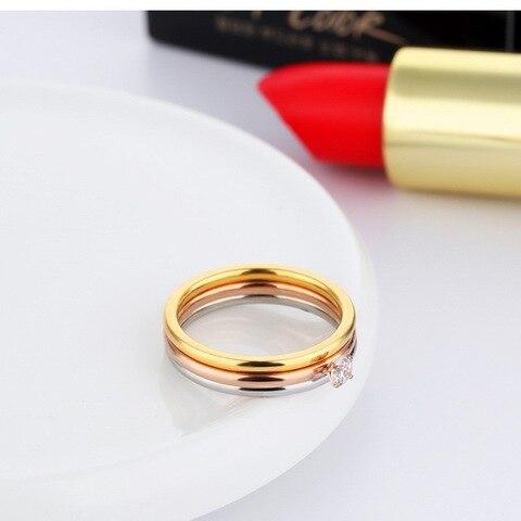 Модные кольца для женщин с фианитом 4 мм простые креативные