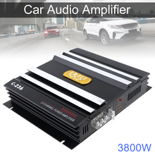 3800W Car Amplifer 400W Class AB Digital 2 Channel Black Aluminum Alloy High Power Car Stereo Audio Power Amplifier for Car Home 160w 2 bluetooth tda7498e home digital amplifier stereo hi fi audio power amplifier apt x