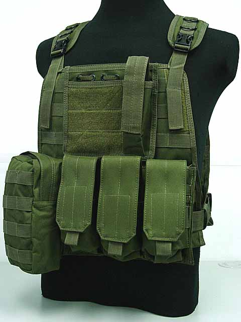 Tactical Combat Airsoft Paintball Hunting font b Shooting b font Combat Molle Vest Chest Rig Harness