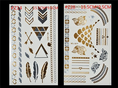 Free Shopping Sex Products Temporary Tattoo For Man And Women Waterproof Stickers makeup make up Flash Gold Tattoo 9