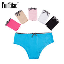FUNCILAC Seamless Woman Panties Underwear Low Rise Cotton Lingerie Sexy Culotte  Femme Coton Briefs Underpants 5pcs a10c0868b0c