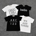 NEW Baby Boys Girls Clothes Cotton Unisex Fashion Letter Character Short Sleeve Summer Baby Kids T-shirt Boy Girl Infant Clothes