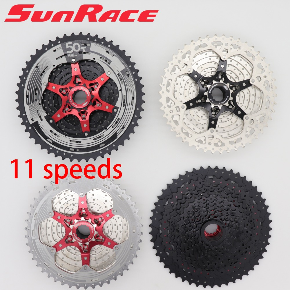 SunRace 11 Speed Cassette 11-46T 11-50T Lightweight  MTB bike CSMX8 Freewheel Flywheel for Shimano Sram M7000 M8000 M9000 X1SunRace 11 Speed Cassette 11-46T 11-50T Lightweight  MTB bike CSMX8 Freewheel Flywheel for Shimano Sram M7000 M8000 M9000 X1