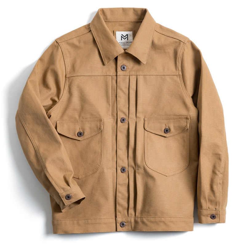 45697800860 Mens Jackets and Coats New Tool American Retro Heavy Canvas Ranch Jacket  Americana Carved Classic Khaki