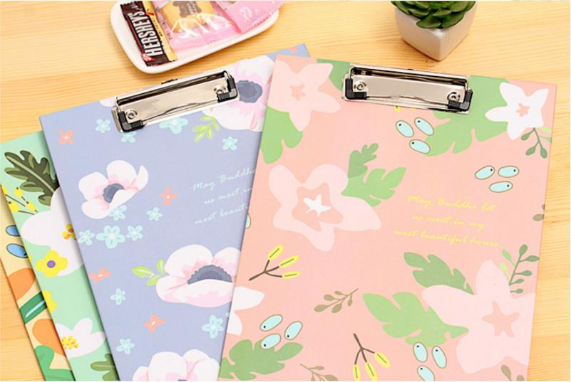 aeProduct.getSubject()  Cute Flower sequence A4 folder board Pill holder paper writing pad clipboard for little one reward workplace provides/ stationery four colours HTB1akomcfNNTKJjSspfq6zXIFXac