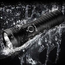 SHENYU – lampe de poche à LED, torche étanche, Ultra lumineuse, Charge directe, 26650, indicateur de batterie, randonnée, chasse