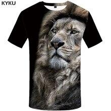 KYKU Brand Lion Shirt Animal T-shirt Men Clothes Funny T Shirts 3d Print 2018 Tshirt Streetwear Summer Clothing New