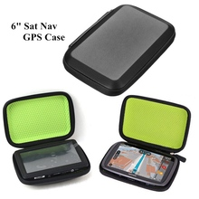 6 Inch GPS Bag Cover For TomTom Go 6100 6 000 610 600 Case Portable PU Leather Shockproof In-Car SatNav Navigation GPS Case
